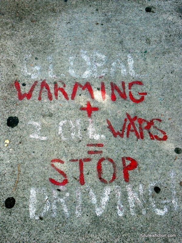 Stop global warming street art