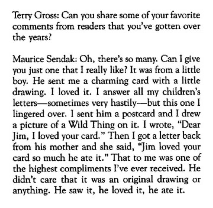 RsEJG1 RIP Maurice Sendak, Author of Where the Wild Things Are