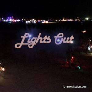 Santigold - Lights Out (Kid Gloves remix) and photos of the art at night.
