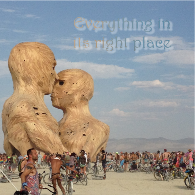Everything in Its Right Place at the Embrace statue