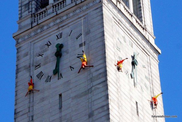bandaloop aerial show campanile 100