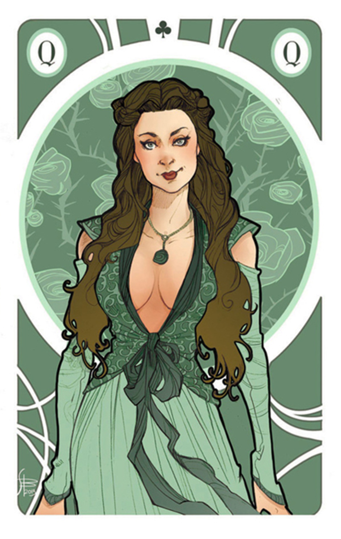 Margaery as a queen playing card