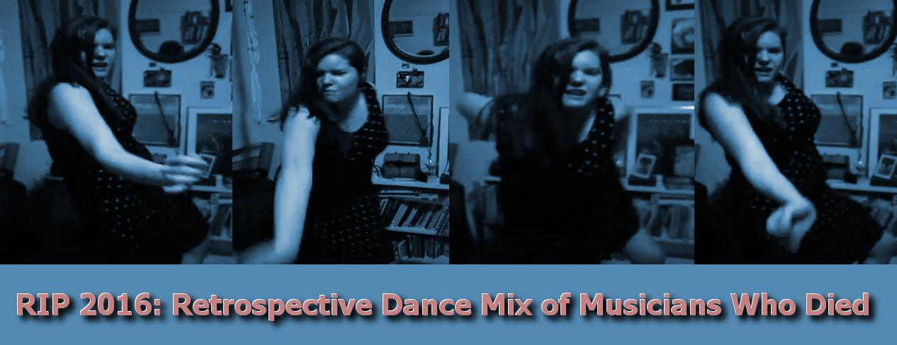 cover image for 2016 retrospective playlist, shows me dancing to Too Funky by George Michael