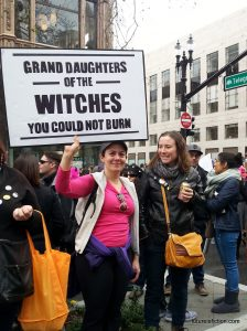Oakland Women's March protest sign: Grand-daughters of the WITCHES you could not burn