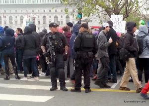 Cops at the Women's March