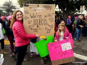 A Women's March is by nature, a mom's march too. Love these hand-made protest signs from the girls. They ar't carrying their mother's signs, they have their own ideas to express. <3